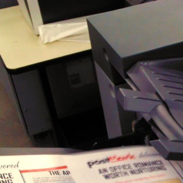 Collated Printer Close Up
