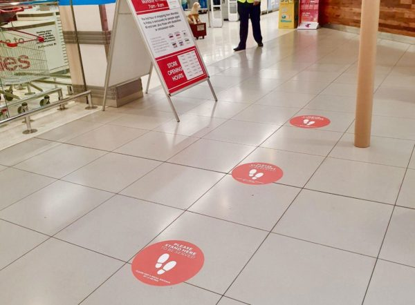 Floor Decals- Inspired Printers COVID-19 Signage